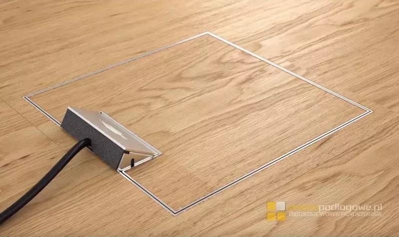 montaż puszki podłogowej