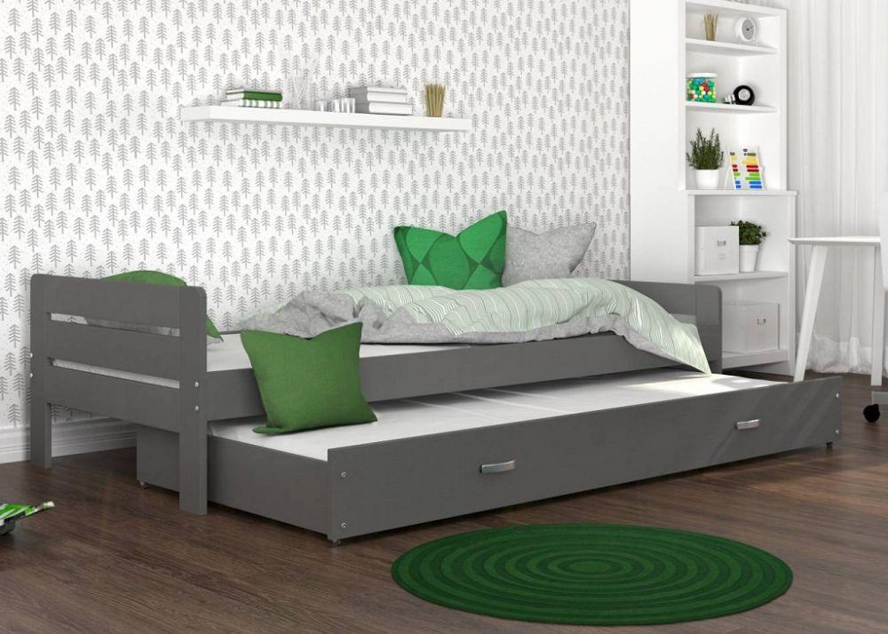 łóżko wysuwane dwupoziomowe